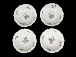 China Dessert Bowls Johann Haviland Bavaria Sepia Rose Set of 4 - $21.24