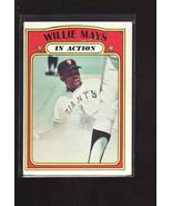 1972 TOPPS BASEBALL CARD#50 WILLIE MAYS IN ACTION  EX/EX+NM GIANTS STAR - $9.21