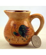 Vintage Pennsbury Pottery mini pitcher Red Roos... - $12.00