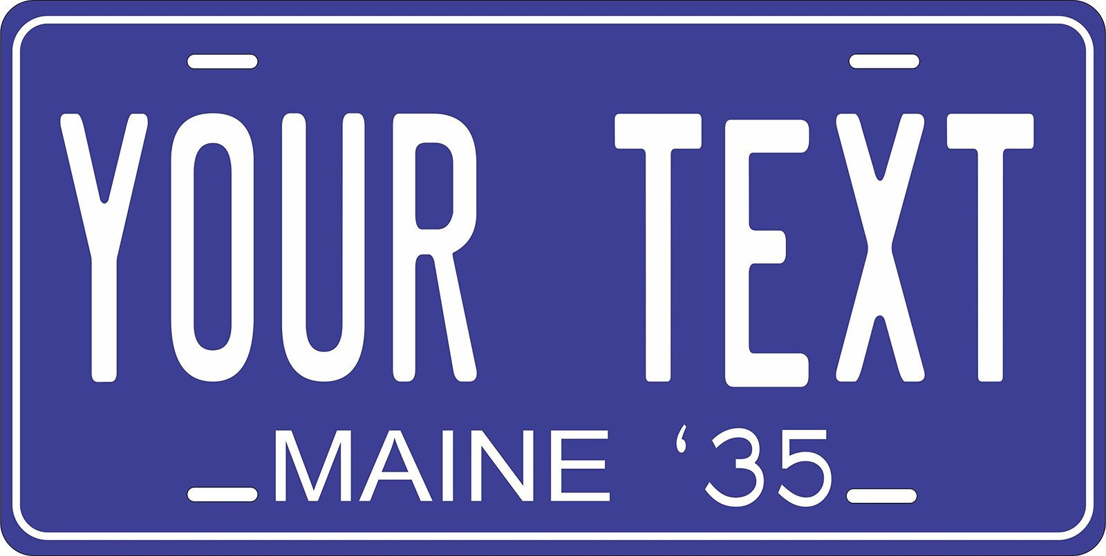 Maine 1935 Personalized Tag Vehicle Car Auto License Plate