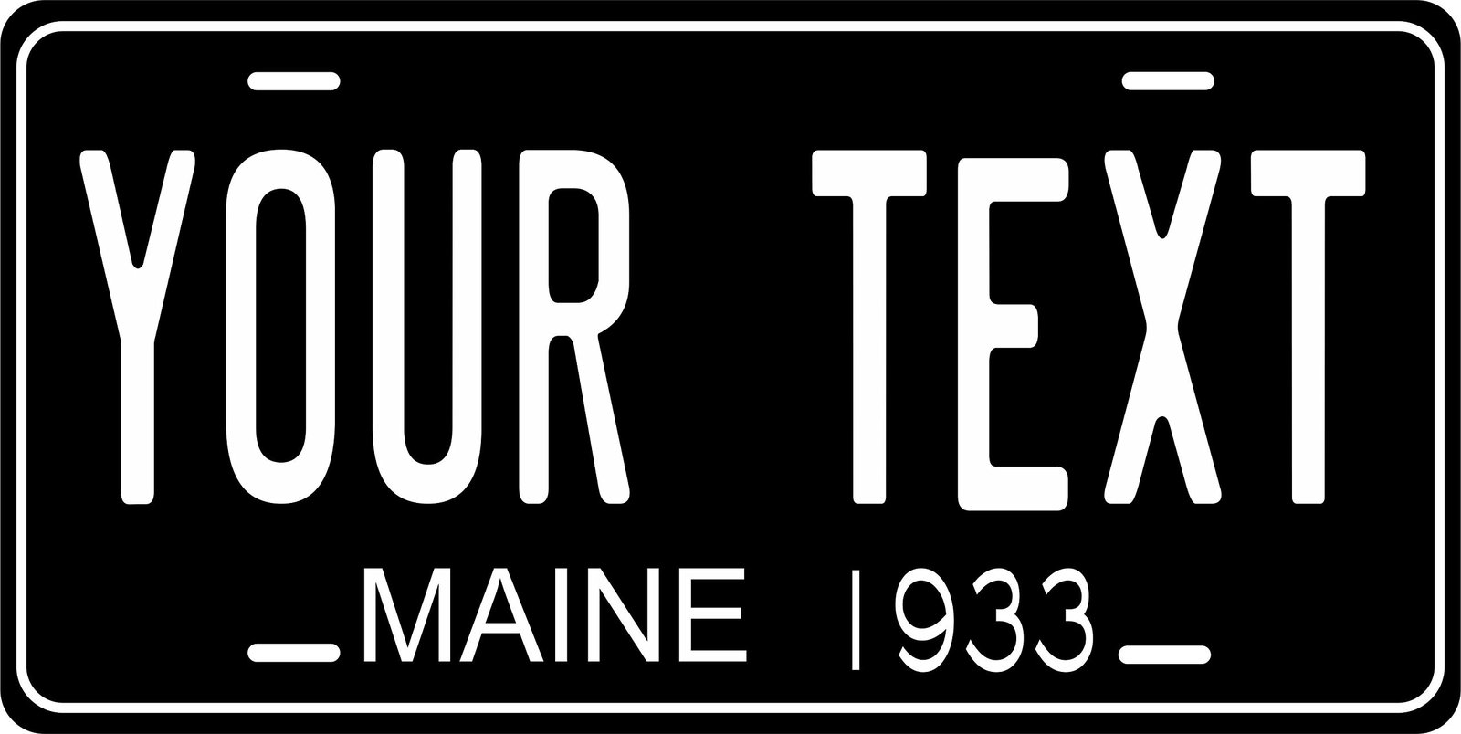 Maine 1933 Personalized Tag Vehicle Car Auto License Plate