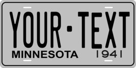 Minnesota 1941 Personalized Tag Vehicle Car Auto License Plate - $16.75
