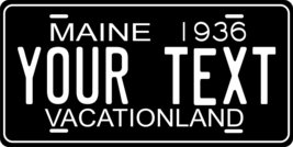Maine 1936 Personalized Tag Vehicle Car Auto License Plate - $16.75