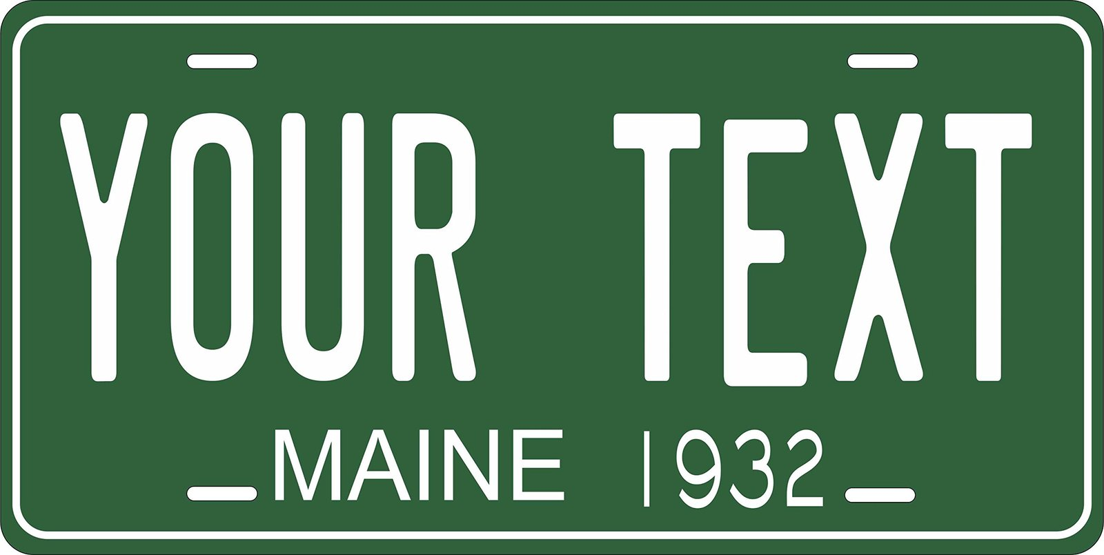 Maine 1932 Personalized Tag Vehicle Car Auto License Plate