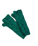 Cable Knit Fingerless Mittens - $281,81 MXN