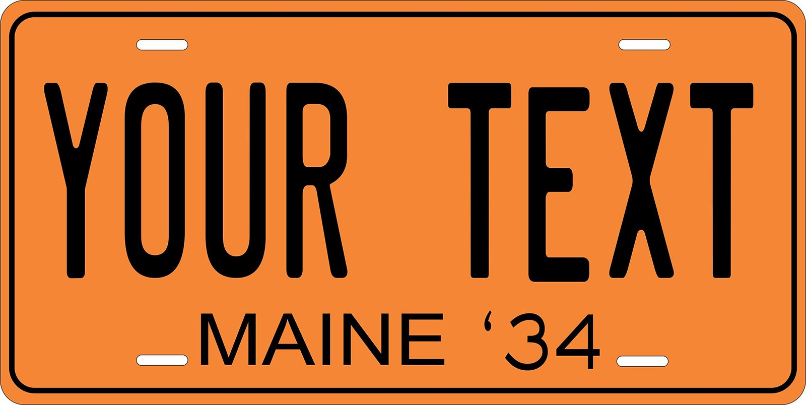 Maine 1934 Personalized Tag Vehicle Car Auto License Plate