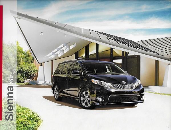 2012 Toyota SIENNA sales brochure catalog 12 US SE XLE Limited