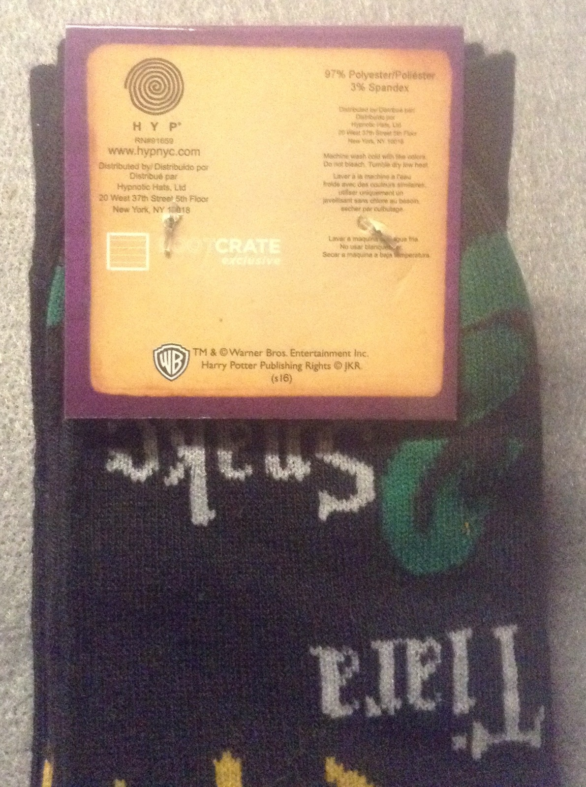 Harry Potter Socks Lootcrate Exclusive Size 6-12 Quest Voldemort's Horcruxes