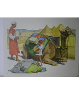 Moroccan Father and Son with Caravan Camel - Art Print - David C. Cook C... - $10.80