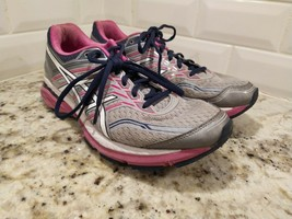 Asics GT 2000 5 Athletic Running Stability Shoes Silver Womens Pink Gray 10.5 - $24.31