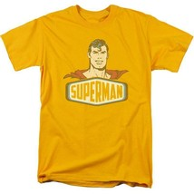 Superman T-shirt DC comic book Batman superhero retro cotton gold tee DCO629 image 2