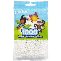White Perler Beads for Kids Crafts, 1000 pcs - $6.47
