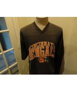 Vtg 90's Charcoal Cincinnati Bengals 1992 v neck 50-50 NFL Jersey Shirt ... - $29.69