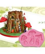 Silicone Mold Mushroom Fondant Chocolate Cake Mold 3D DIY Decoration Bak... - $2.20