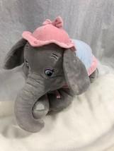 """Disney Parks MRS JUMBO the Elephant Dumbo's Mom 14"""" Grey Pink Soft Plush - $29.70"""