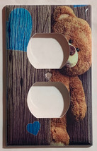 Teddy Bear Brown Light Switch Power Outlet Phone wall Cover Plate Home Decor image 2