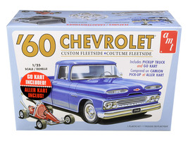 Skill 2 Model Kit 1960 Chevrolet Custom Fleetside Pickup Truck with Go K... - $53.00