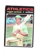 1971 TOPPS BASEBALL CARD#20 REGGIE JACKSON VG-/EX- A'S STAR - $12.00