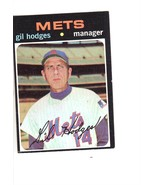 1971 TOPPS BASEBALL CARD#183 GIL HODGES  EX++NM METS MANAGER  - $3.22
