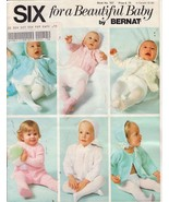 Six for a Beautiful Baby Vintage knit and Croch... - $6.39