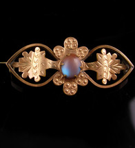 Antique saphiret Brooch - haunted Victorian jewelry - estate heirloom - ... - $295.00