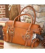 Concealed Carry Aged Brown Leather Satchel Purse - $299.99