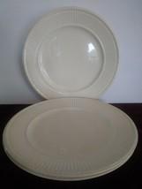 "Set of 3 Wedgwood Edme 61298 Dinner Plate(s) 10 1/2"" England Cream  - $56.09"