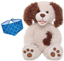 Build a Bear Paperback Pup with Blue Bandana 17 in. Dog Stuffed Plush To... - $79.95