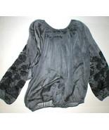 New Womens S Josie Natori Silk Embroidered Sheer Blouse Top Black Peasan... - $396.00