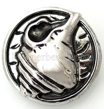 Antiqued Silver Sea Shell 20mm Snap Charm Interchangeable For Ginger Snaps - $6.19