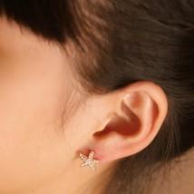 Super Cute Gold Blingbling Starfish Shaped Stud Earrings - $10.99