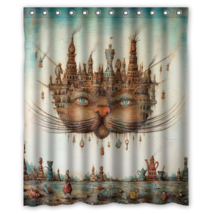 Cat #06 Shower Curtain Waterproof Made From Polyest - $29.07+
