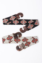 Women's Boho Tribal Arrow Stretchy Bead Wood Buckle Belt - $18.00
