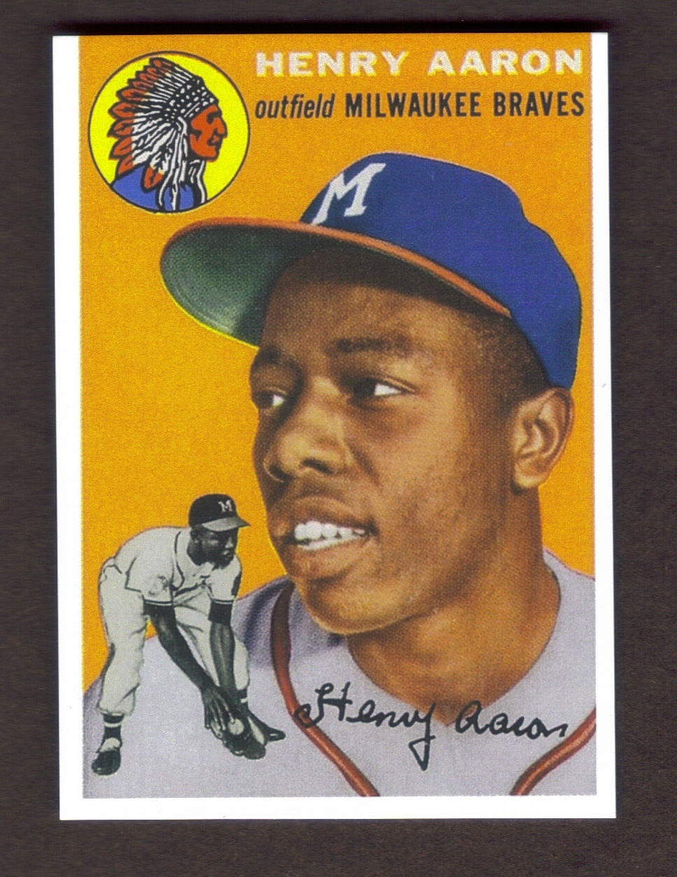 Hank Aaron Rookie Card Rp 128 Braves 1954 T And 17 Similar