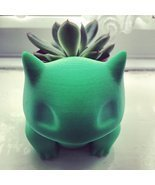 3D Printing Bulbasaur Planter Boxes Flower Pots Printed Bulby Grower Des... - $49.60 CAD