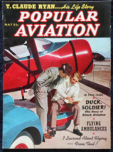 May 1939 - Popular Aviation Magazine -T. Claude Ryan -His Life Story - $21.95