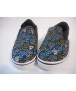 Simon Chang Black Skulls Canvas  Boys Shoes Various Sizes  NWT - $14.99