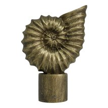 Urbanest Seashell Finial, 2 5/8-inch Tall, Antique Gold - $9.89
