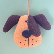 Brown & Tan Dog Head Christmas Ornament - $5.95
