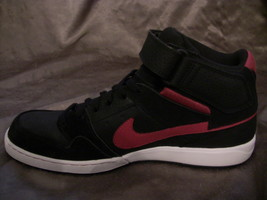 Black Men's MOGAN RIGHT Leather Sneakers Red NIKE SHOE 407360 ONLY Shoes q7TxwPtTU