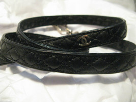 Rare Vintage quilted Chanel dog leash lead 80s - $1,194.78