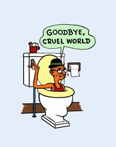 Travel Humor Hot Rat Rod Vinyl Decal Goodbye Cruel World #19 - $2.95