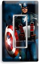 CAPTAIN AMERICA SUPERHERO STAR SHIELD SINGLE GFCI LIGHT SWITCH WALL PLAT... - $11.99