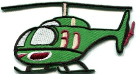 Helicopter chopper copter kids flying fun sewing applique iron-on patch ... - $2.95
