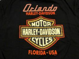 Harley Davidson 2012 L Orlando Florida FL Black Motorcycle T-Shirt Large - $21.77