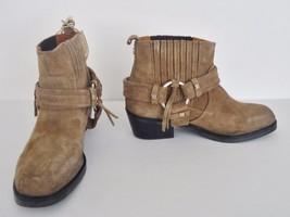 NIB Diesel Squar Halress Distressed Suede Bootie Ankle Boots  Sz 5 Walmnut $280 - $79.15