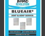 3 Blueair 500/600 Series Home Revolution Brand Air Purifier Filter; Replacement