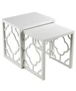 Gloss White Quatrefoil Nesting Tables Jonathan Adler Serena Lily Look Mo... - €356,68 EUR