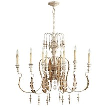 Horchow French Country Modern Farmhouse X Large Shabby Chandelier Chic - $998.00