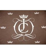 """Juicy Couture Baby Blanket 36""""x 45"""" Brown White Crowne EUC - $39.99"""